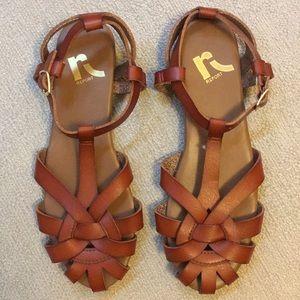 Cognac Sandals - never worn! Size 6.
